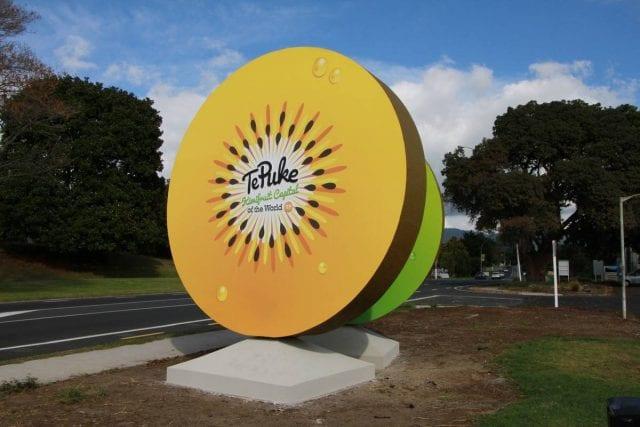 TePuke Kiwifruit Sign